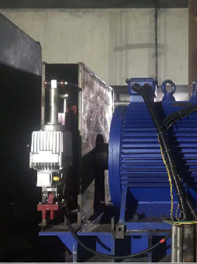 Permanent magnet motor of belt conveyor in a power plant
