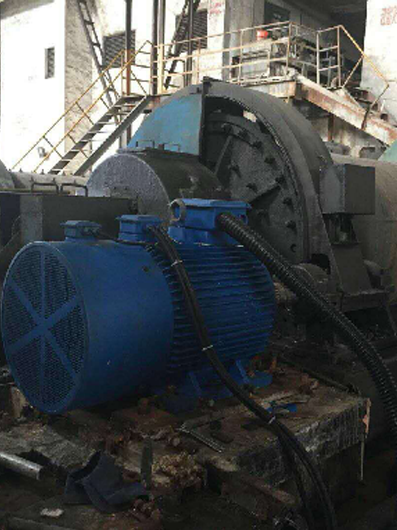 Permanent Magnet Motor of a Mining Ball Mill